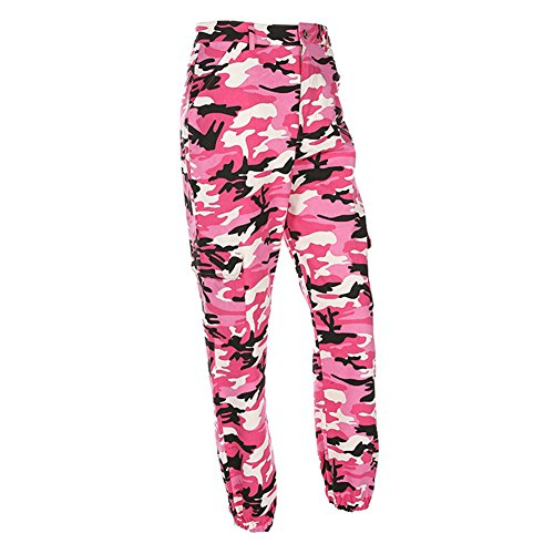 Pantaloni Pantaloni Rosso Yoy Hip Pantaloni camoscio Pant Camouflage di Hip in Donne qT7rwIqx