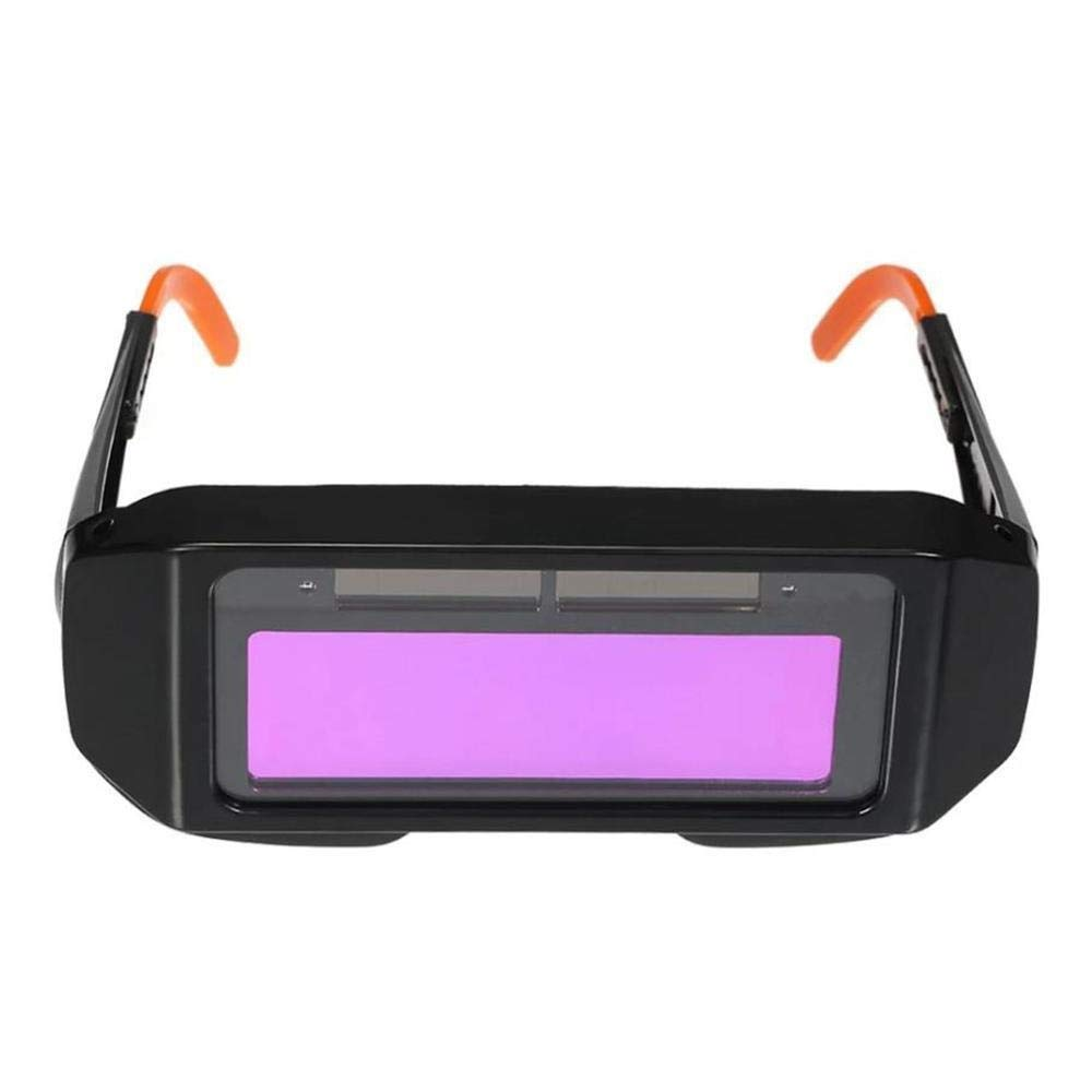 YUANYUAN521 Solar Powered Auto Dimming Eye Safety Protective Welding Glasses Mask Goggles (Color : Red) by YUANYUAN521