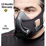 Demmyzz Workout Mask - Training Breathing   Elevation High Altitude Masks   for Running, Oxygen Exercise Sports Fitness Cardio Resistance, Biking Deprivation Gym Sport   16 Levels for Men & Women
