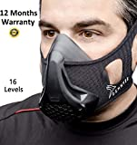 Workout Mask - Training | High Altitude Elevation Masks | Approved For Running, Sports, Gym, Exercise, Breathing Peak Resistance, Oxygen, Endurance Fitness, Cycling, Cardio | 16 Levels For Men & Women