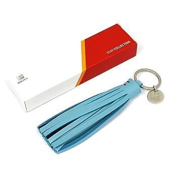 Seat 6h1087011hbn Llavero Borla Original Colgante Azul con Logo de la Marca