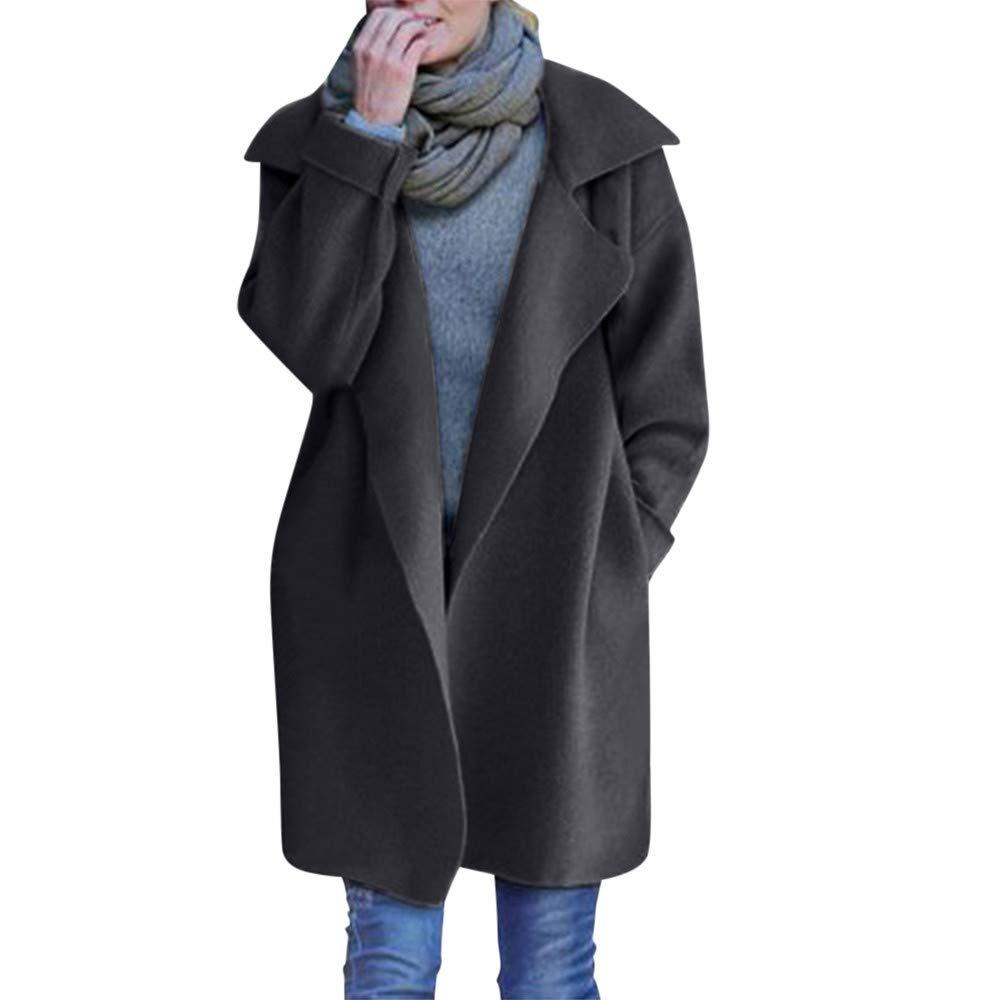 feiXIANG (R) -30% Cappotto a Maniche Lunghe Giacca Donna Cardigan in Maglia Donne Top Maglione Oversize Lavorato a Maglia Pesante Coprispalle Casuale Maglieria Knitted Elegante