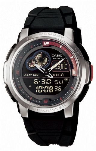 Casio AQF 102W 1BVEF Combination Resin Watch