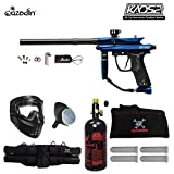 Cheap MAddog Azodin KAOS 2 Beginner HPA Paintball Gun Package B – Blue/Black