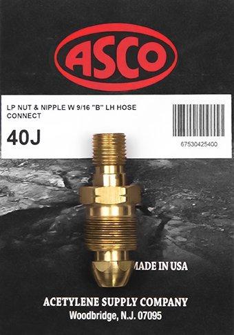 40J Propane Tank to Hose Adapter Asco Torch
