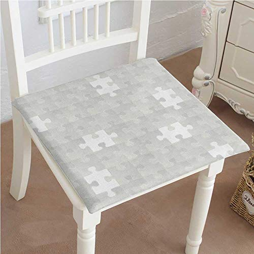 (Mikihome Chair Pads Squared Seat Abstract Puzzle Patterns in Simple Light Background Shabby Mosaic Ornament Idea Kids Gray Outdoor Dining Garden Patio Home Kitchen Office 32