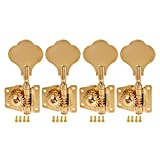 Kmise 5 String Bass Electric Guitar Tuners Tuning Pegs Keys Machine Heads Open Gear 4R1L Gold 1 Set (MI1512)