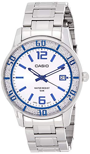 Casio Enticer Analog Silver Dial Women #39;s Watch   LTP 1359D 7AVDF  A810