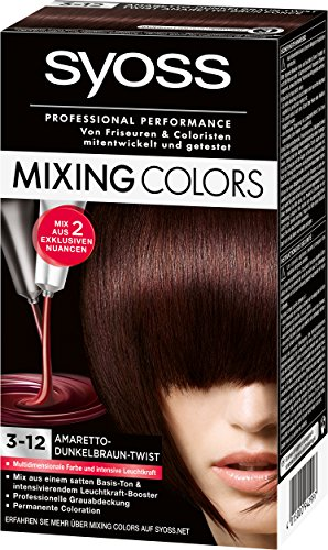 Syoss Mixing Colors Coloration 3-12 Amaretto-Dunkelbraun-Twist, 3er Pack (3 x 135 ml)