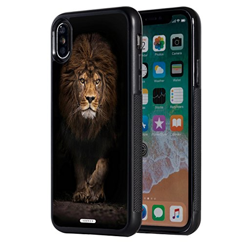 - iPhone Xs Max Case,AIRWEE Slim Anti-Scratch Shockproof Silicone TPU Back Protective Cover Case for Apple iPhone Xs Max 6.5 inch 2018,Black Lion