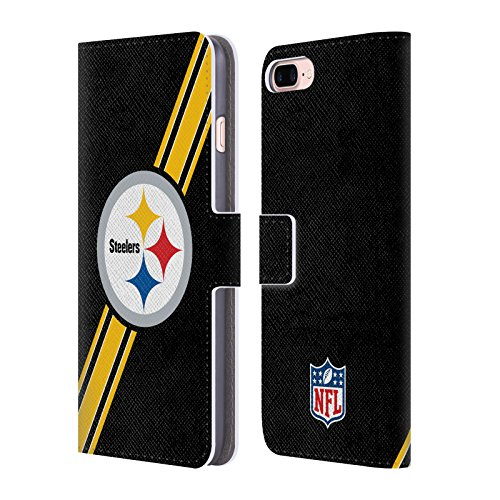 fd6dc9b87 Official NFL Stripes Pittsburgh Steelers Logo Leather Book Wallet Case Cover  For Apple iPhone 7 Plus   8 Plus