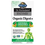 Garden of Life Dr. Formulated Enzymes Organic Digest + Chewables, 90 Count, Tropical Fruit