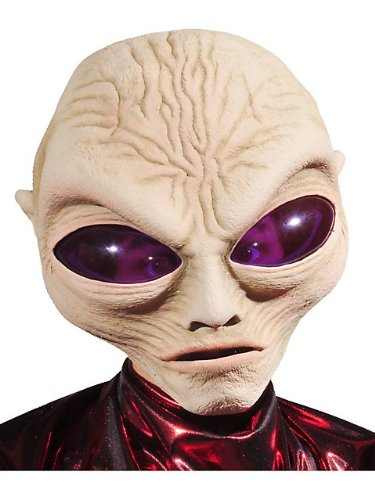 Zagone Grey Alien Mask, Large Eyed Alien Creature, Big Head -