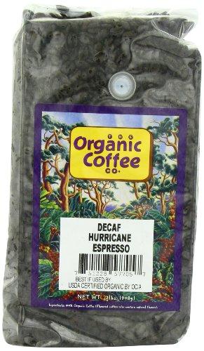 The Organic Coffee Co., Decaf Hurrican Espresso- Whole Bean, 2-Hammer (32 oz.), Swiss Water Process- Decaffeinated, USDA Organic