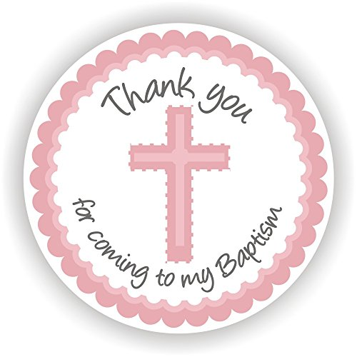 Philly Art & Crafts Baptism Stickers - Girl Baptism Stickers - Baptism Favor Labels - Set of 40 Stickers