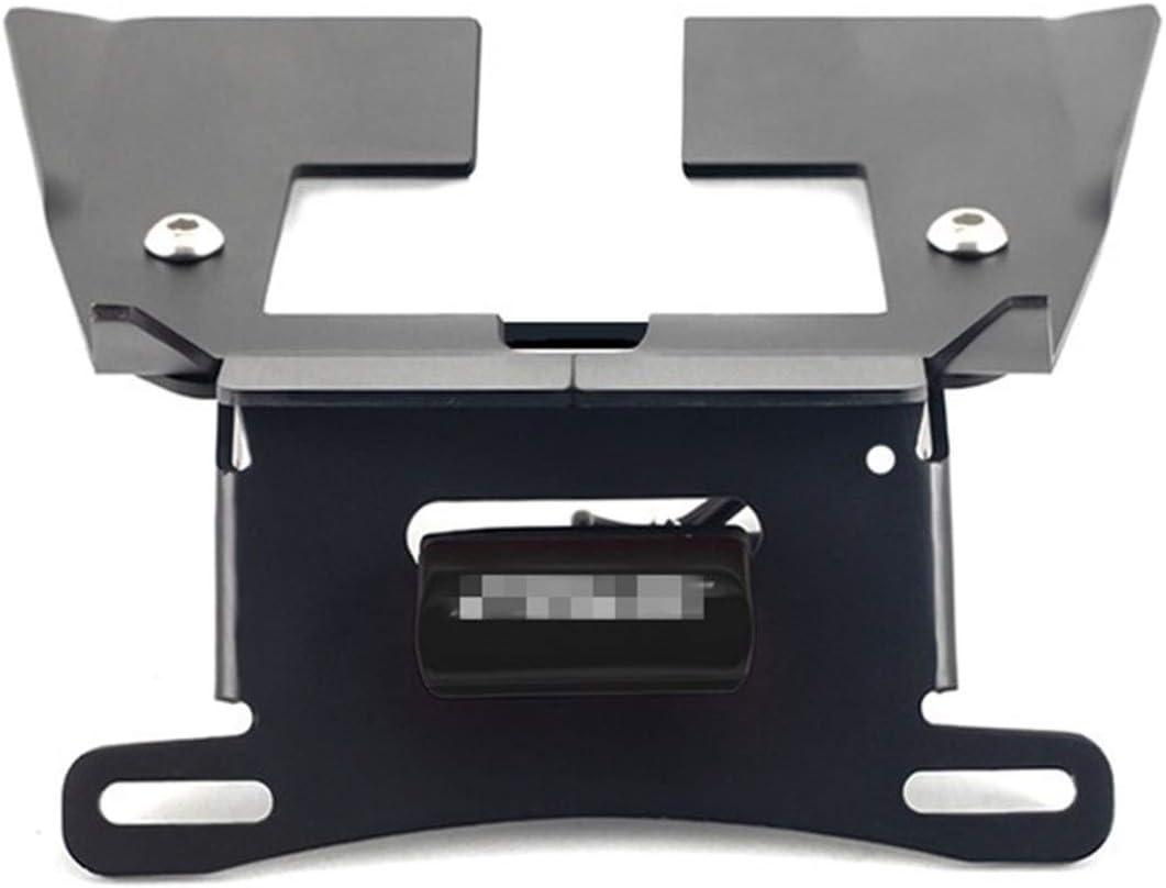 Color : Black Licence Support de Plaque for Honda 125 SF Grom MSX 2016-2020 2017 2018 2019 Accessoires Moto arri/ère Tail Tidy LED MSX125