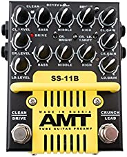 AMT Electronics SS-11 3-Channel Dual Tube Guitar Preamp Modern Mod