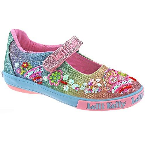 Lelli Kelly LK5068 (GX02) Multi Glitter Rainbow Tillie Dolly Shoes-33 (UK 1)