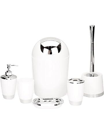 GMMH 6pcs Set DE Baño Baño Set DE Accesorios DISPENSADOR DE Jabón Soporte  ESCOBILLA DE Baño b34cadd595ee