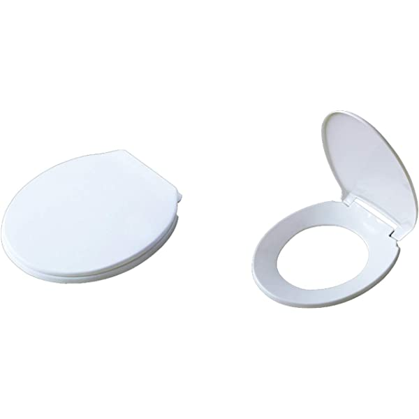Standard Toilet Seat Polypropylene White With Standard Hinges 400 x 350mm