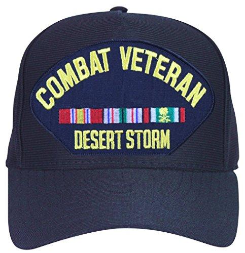MilitaryBest Desert Storm Combat Veteran with Ribbons Ball Cap