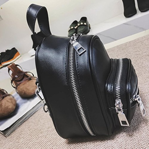 Women Girls Fashion Leather Crossbody Bag School Bag Backpack Satchel Large Tote Trave Chest Bag Zipper by SHL (Image #3)