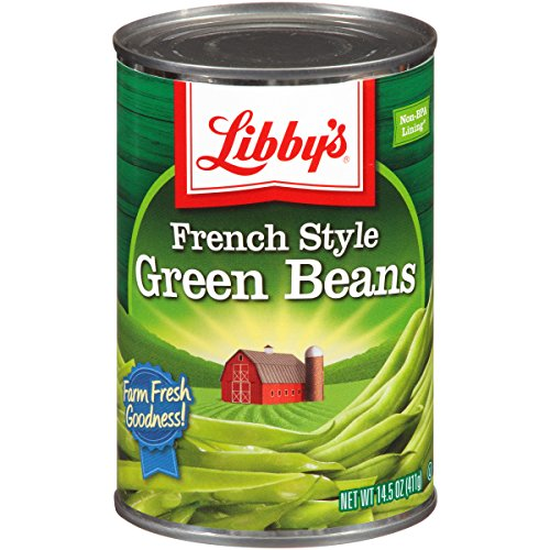 Libby's French Style Green Beans Cans, 14.5 Ounce (Pack of 24)