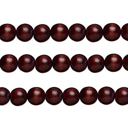 Wood Round Beads Chocolate 12mm 16 Inch Strand