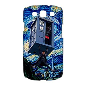 Colorful Doctor Who Samsung Galaxy S3 I9300 Case Cover Tardis Police Call Box Starry Night by Vincent Van Gogh