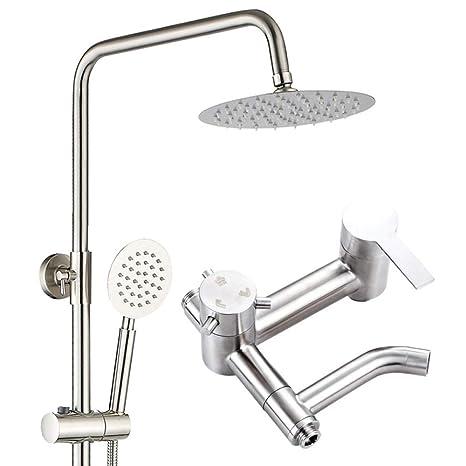Kutera Sistema de ducha ducha de lluvia de acero inoxidable ...