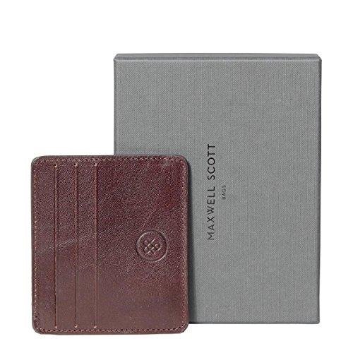Maxwell Scott Luxury Italian Leather Mens Faux Crocodile Card Holder - Choc by Maxwell Scott Bags (Image #5)