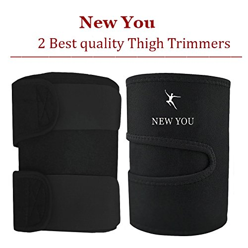 New You Body Wraps for Slimmer Thighs – Thigh Trimmers to Help Reduce Cellulite - Gym exercise bands for Women & Men (2 Piece Kit )