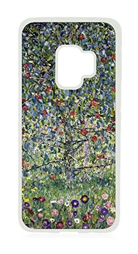 Artist Gustav Klimt's Apple Tree Painting Print Design White Rubber Case for The Samsung Galaxy s9 - Samsung Galaxy s9 Accessories
