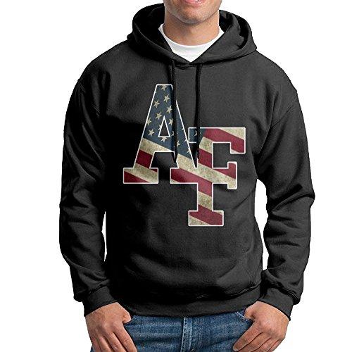 AUGU Men United States Air Force Academy Hooded Sweatshirt Black