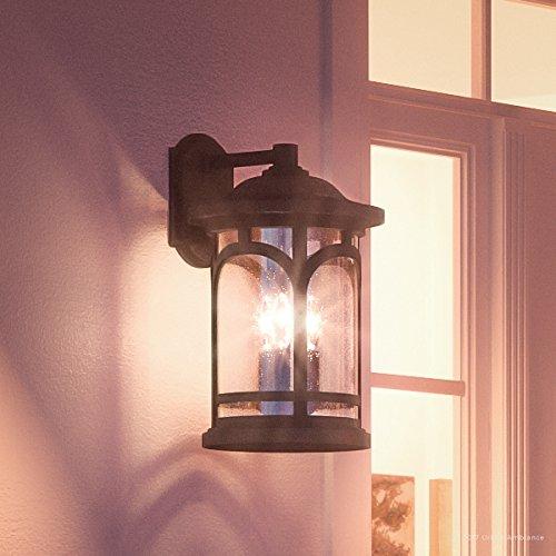 Luxury Rustic Outdoor Wall Light, Medium Size: 17.75