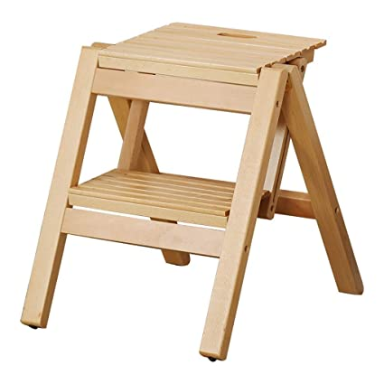 Admirable Amazon Com Wmm Ankle Step Stool Folding Chairs Solid Wood Spiritservingveterans Wood Chair Design Ideas Spiritservingveteransorg