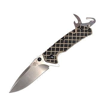 Sanrenmu 7056 Serie Outdoor Camping de Flipper – Navaja Cuchillo Cuchillo de caza Hoja de 7 cm multifunción ak10t Knife