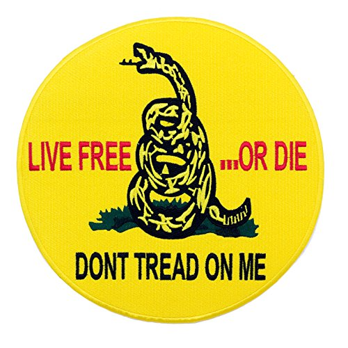 USMC Rattlesnake LIVE FREE OR DIE DON'T TREAD ON ME Yellow 10