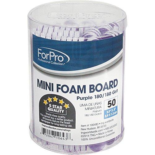 For Pro Mini Foam Board 180/180 Grit, Purple, 50 (Purple Nail File)