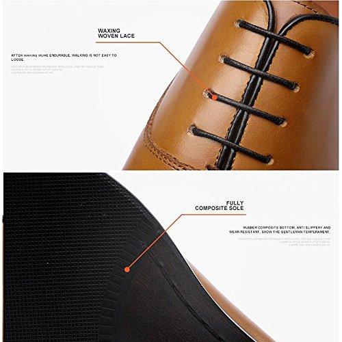 Scarpe Comoda Suola Scarpe Derby da Scarpe Stringate da Formali da Lavoro Scarpe Eleganti Giallo Scarpe JUNBOSI Uomo comode Nuove Lavoro R6SwqwvP