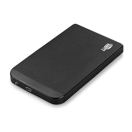 Negro Disco Duro Externo Carcasa 2,5 Pulgadas USB 2,0 IDE Portátil Caso HDD Ultra Delgada