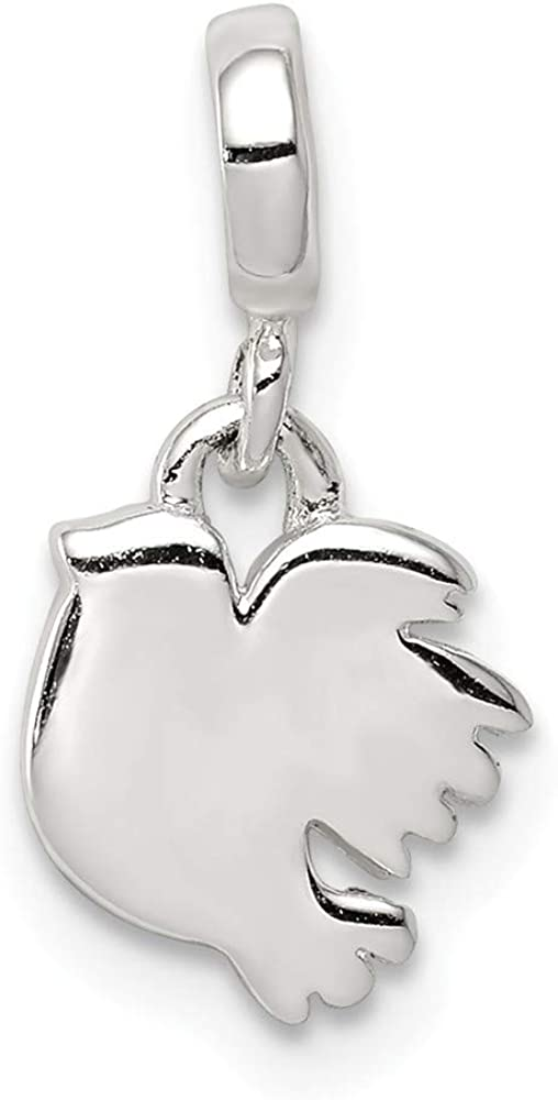 925 Sterling Silver Bird Enhancer Necklace Pendant Charm Fine Jewelry For Women Gifts For Her