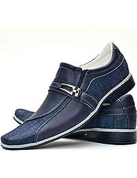 Sapato Social Masculino Dupla Textura Cafe Azul Preto Bico Fino Resistente