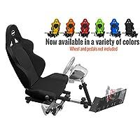 Openwheeler GEN2 Racing Wheel Stand Cockpit Black en Black | Se adapta a todos Logitech G29 | G920 | Todo Thrustmaster | Todas las ruedas de fanatec