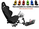 Openwheeler Racing Wheel Stand Cockpit Black on Black | For Logitech G29 | G920 and Logitech G27 | G25 | Thrustmaster | Fanatec Wheels | Racing wheel & controllers NOT included For Sale
