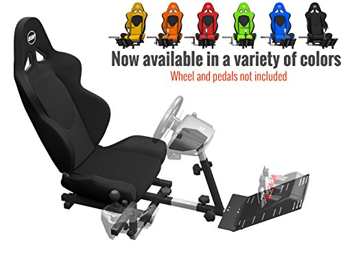 Openwheeler GEN2 Racing Wheel Stand Cockpit Black on Black | Fits All Logitech G29 | G920 | All Thrustmaster | All Fanatec Wheels from OpenWheeler