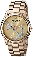 Sperry Top-Sider Women's 10018657 Audrey Anchor Analog Display Japanese Quartz Rose Gold Watch from Sperry Top-Sider Watches MFG Code