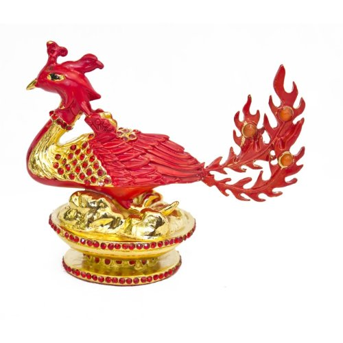 (Bejeweled Feng Shui Phoenix Statue for Love and Good Relationship )