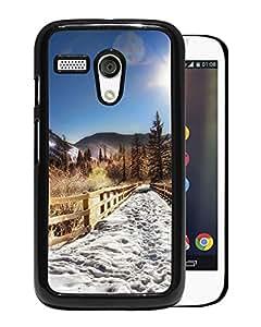 New Custom Designed Cover Case For Motorola Moto G With Aspen Trail Nature Mobile Wallpaper Phone Case