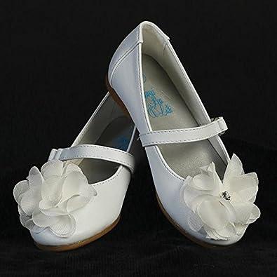 New white flower girl special occasion girls shoes lucy comfy pumps new white flower girl special occasion girls shoes lucy comfy pumps with straps usa mightylinksfo